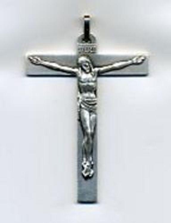 Croix d'aube en métal agenté avec cordon