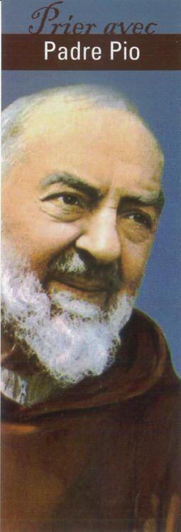 """Signet """"Prier avec"""" Padre Pio - Lot de 10 - Prier avec quelques grands témoins"""