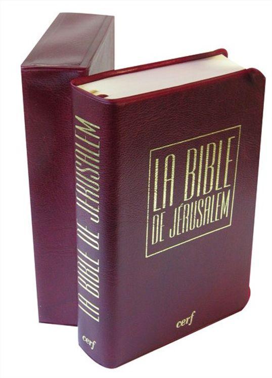 La Bible de Jérusalem (format poche 9x13,5 - étui vinyle bordeaux)