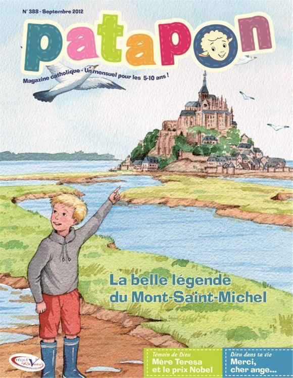 La belle légende du Mont-Saint Michel - revue Patapon Septembre 2012 N°388