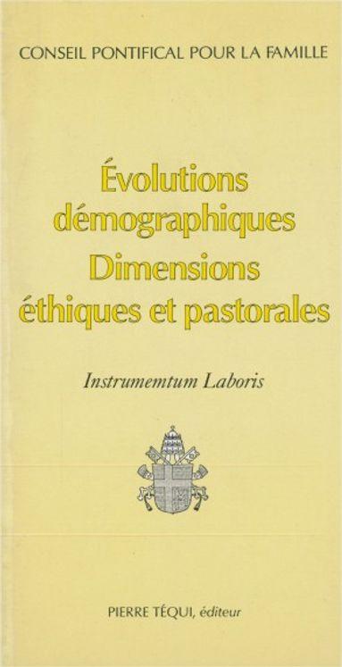 Instrumentum Laboris Evolutions Démographiques