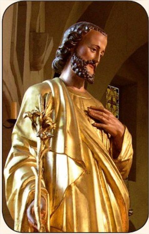 Paquet de 50 Cartes - Prière - CB625 - Saint Joseph statue