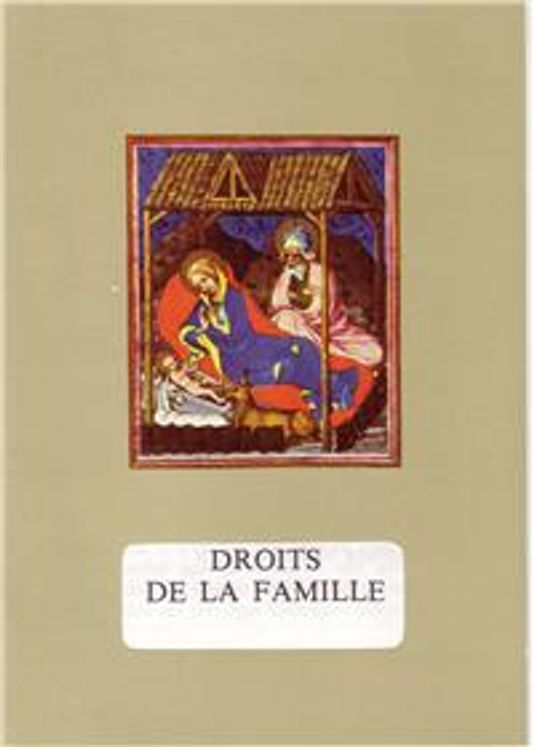 Charte des droits de la famille