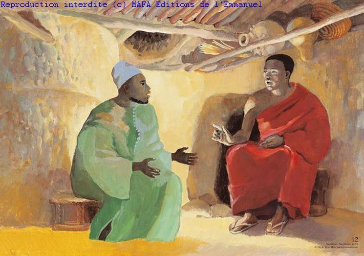 Nicodème  (Jn 3,1), Carte simple Vie de Jésus Mafa
