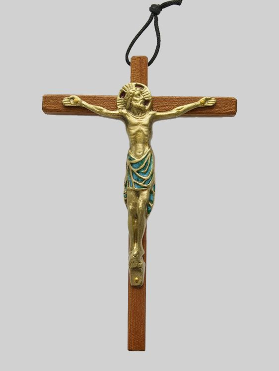 Crucifix, Christ bronze émaillé