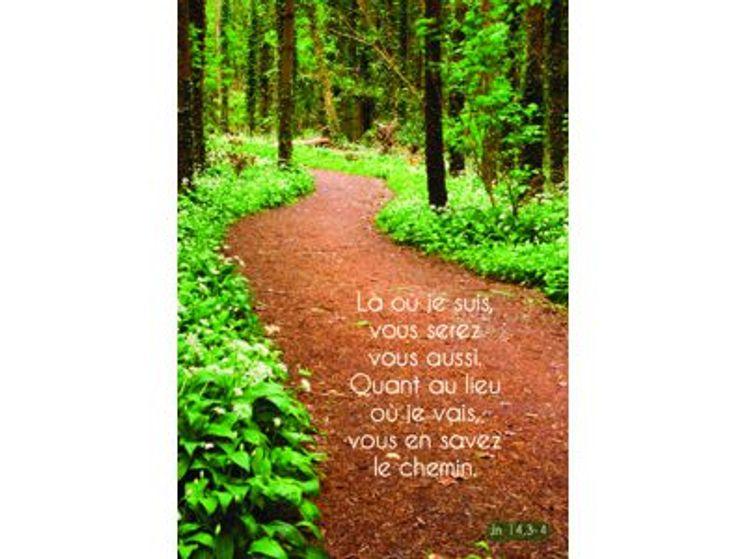 Carte simple chemin forêt, là où je suis vous serez vous aussi
