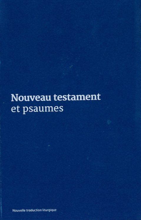 Nouveau Testament et Psaumes - Couverture vinyle bleue