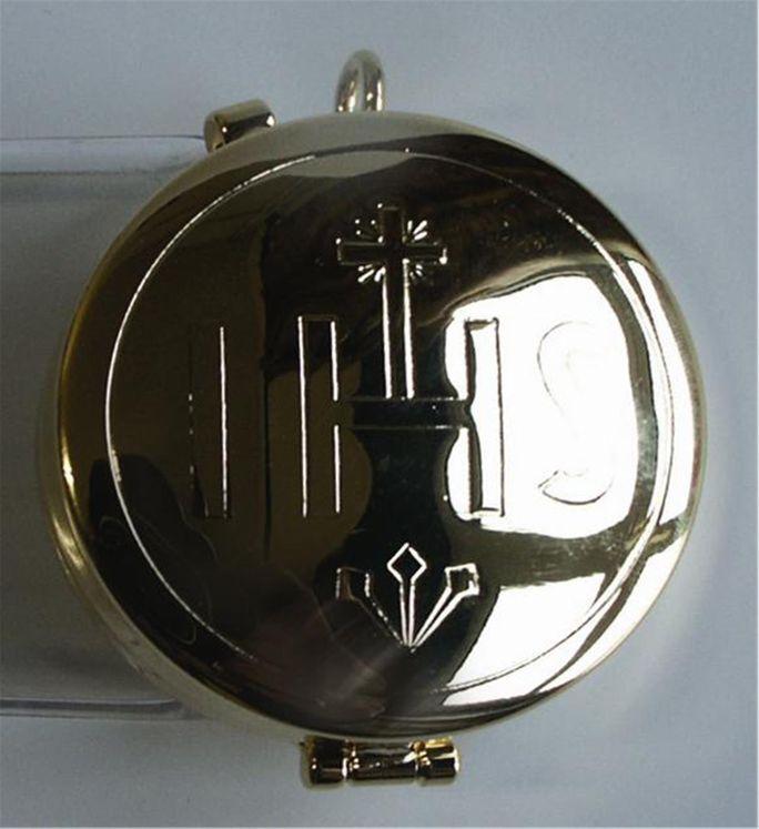 Custode en métal doré  IHS