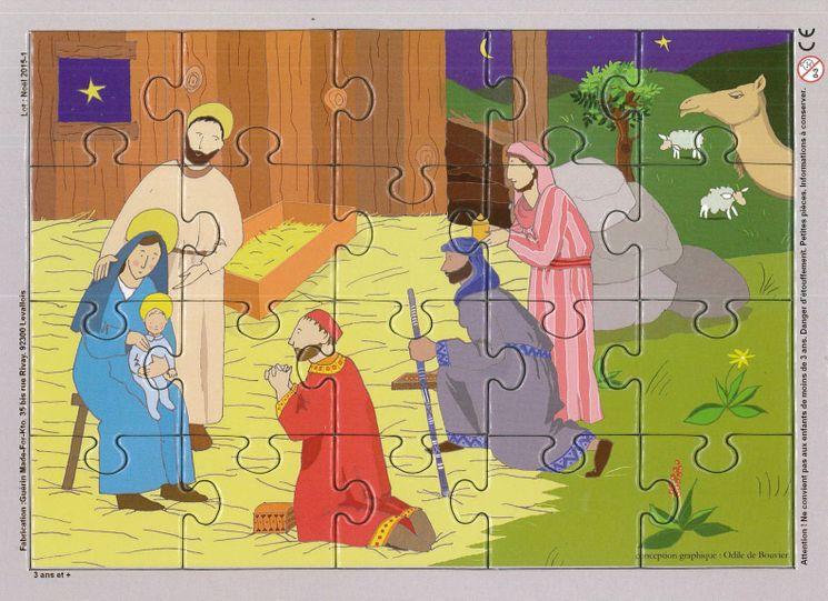 Puzzle sur planche 20 pièces - La nativité