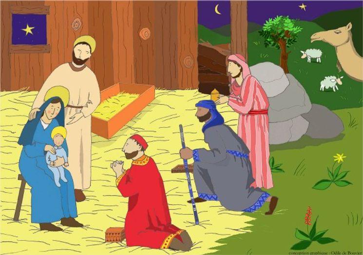 Puzzle coffret 63 pièces - La naissance du Christ