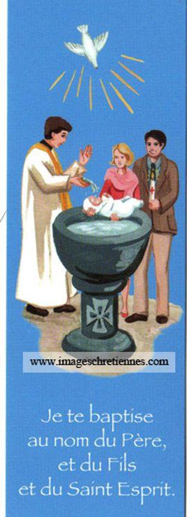 Lot de 25 - Signet Baptême enfant