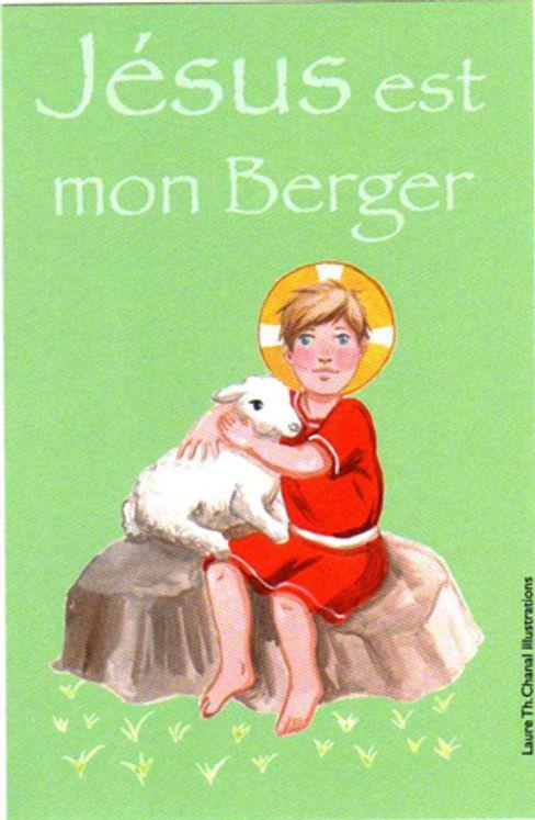 Lot de 25 - Image Communion Bon berger