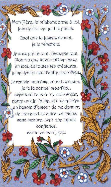 Lot de 25 - Image Prirèe Charles de Foucauld