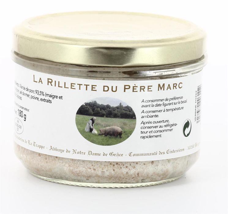 La Rillette du Père Marc - Pur Porc, conserve verre de 180 g