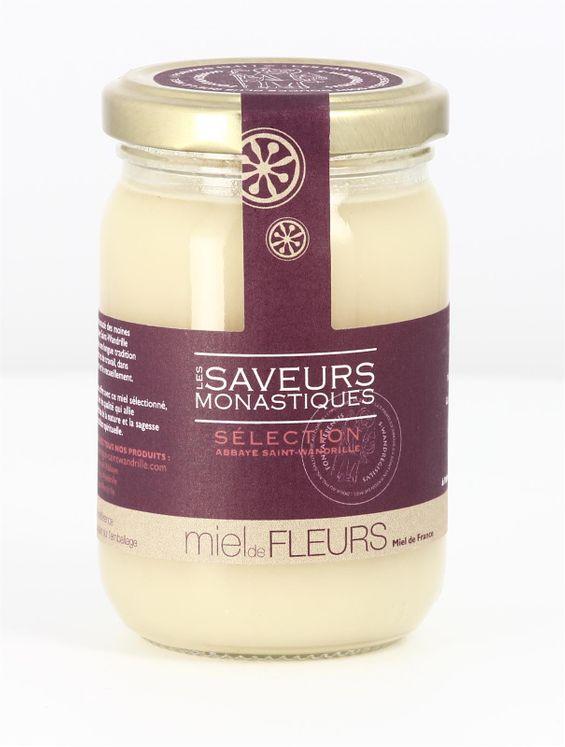 Miel de fleurs de France, pot verre de 250 g