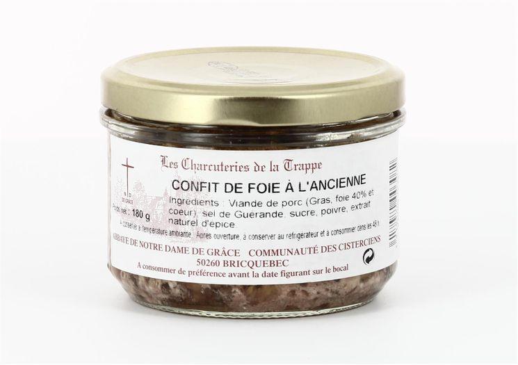 Confit de foie à l´ancienne, conserve verre de 180 g