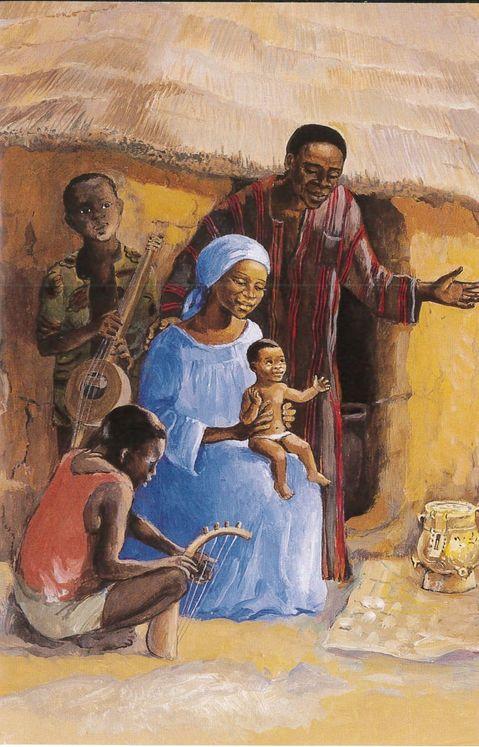 La Sainte Famille, Carte simple Vie de Jésus Mafa