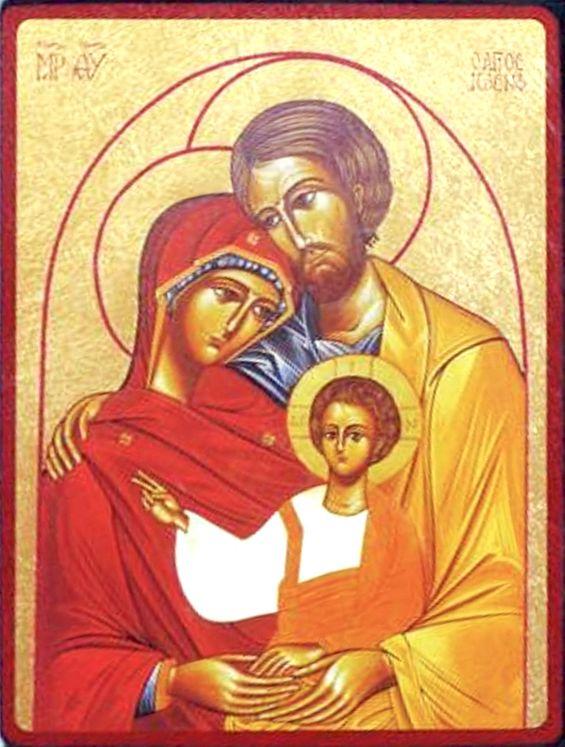 Icône qualité Or La Sainte Famille Mont des Oliviers 11 x 15 cm