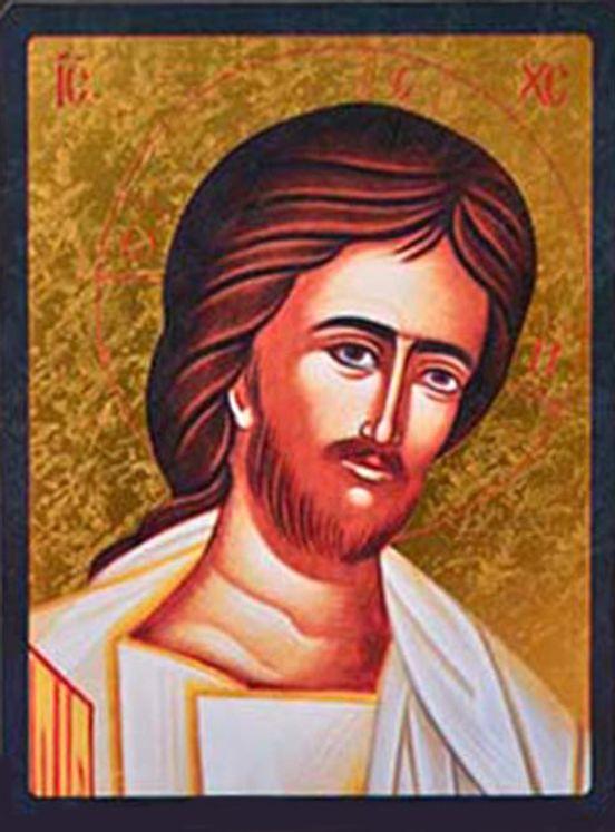 Icône qualité Or Christ de la Compassion 11,8 x 15,5 cm