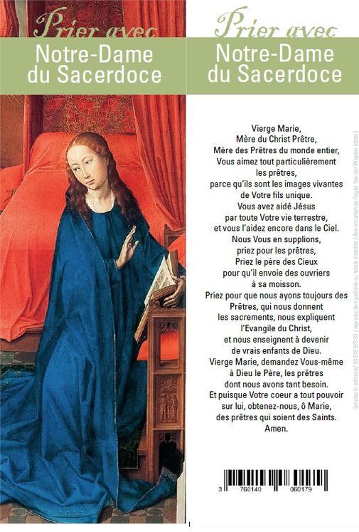"""Signet """"Prier avec"""" Notre-Dame du Sacerdoce - Lot de 10 - Prier avec quelques grands témoins"""