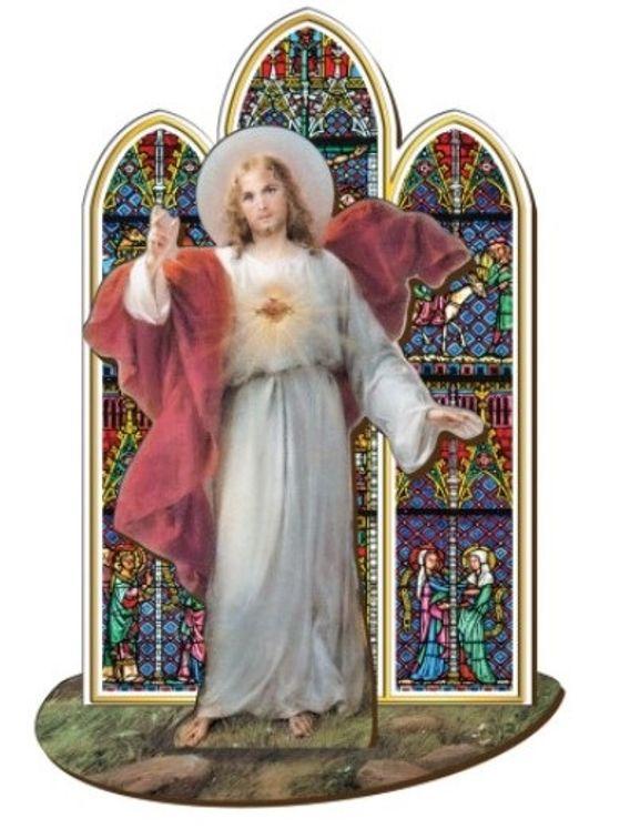 Sacré Coeur de Jésus - Saint en bois à assembler (taille 12 cm)
