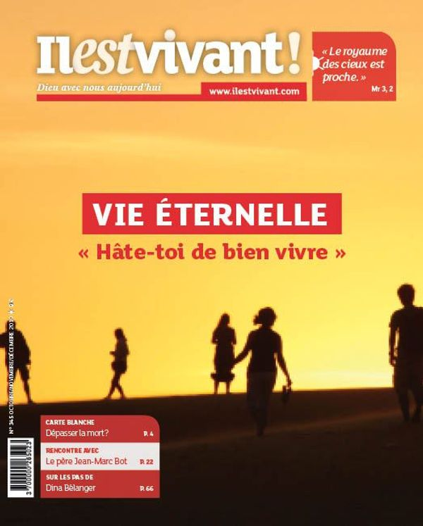 """Pack de 5 exemplaires N°345 - Vie éternelle -  """"Hâte-toi de bien vivre !"""" - Octobre - Novembre - Décembre 2019"""