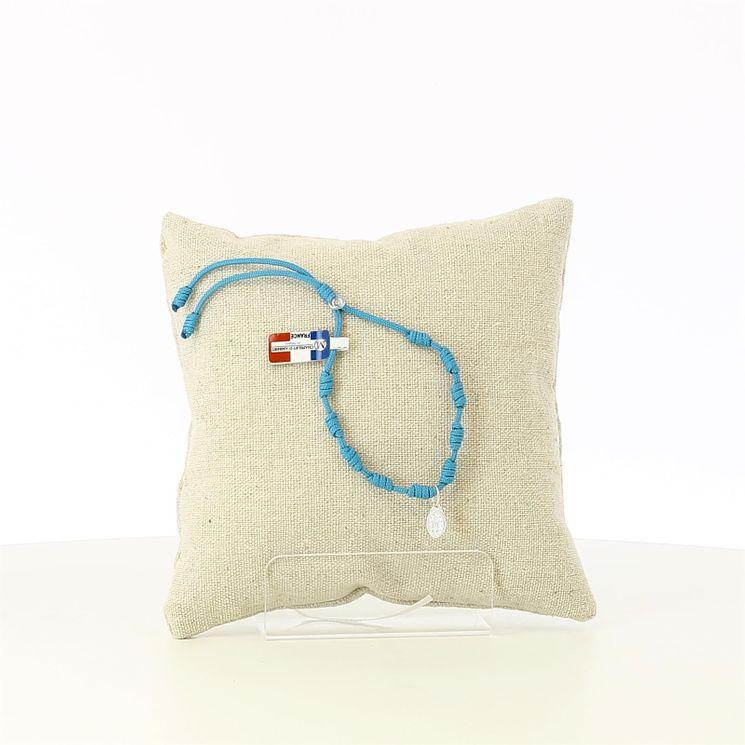 Bracelet dizainier cordon turquoise et médaille miraculeuse