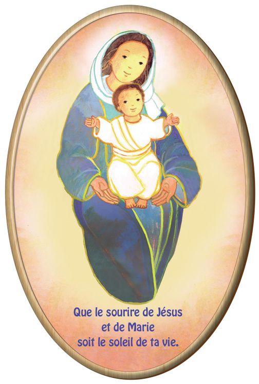 Cadre ovale en bois Maïté Roche - Vierge Mère