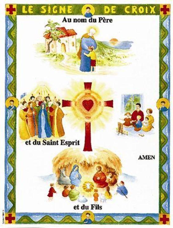 Le signe de croix - Carte postale