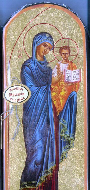 Icône Or 10x25 Marie porte du ciel