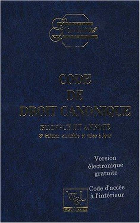 Code de droit canonique - 4éme Edition bilingue français-latin