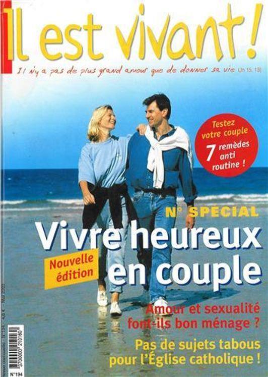 Pack de 10 Il est vivant n° 194 Vivre heureux en couple