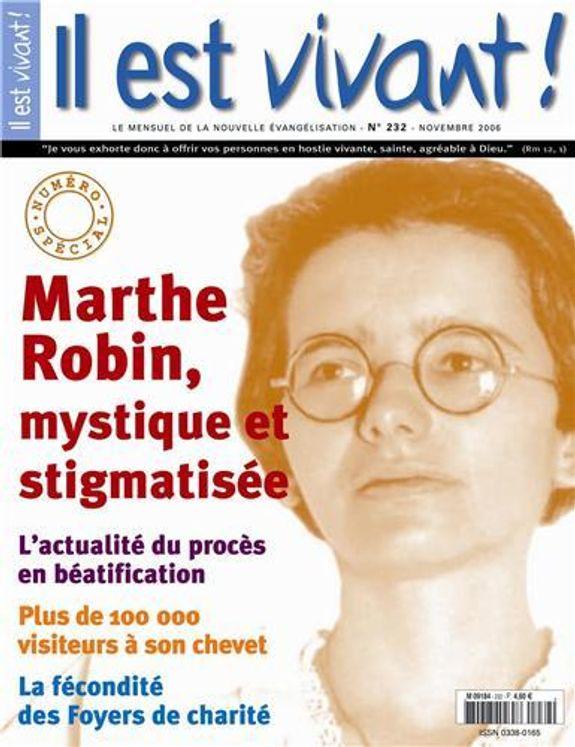Pack de 50 Il est vivant n° 232 - Numéro spécial - Marthe Robin mystique et stigmatisée